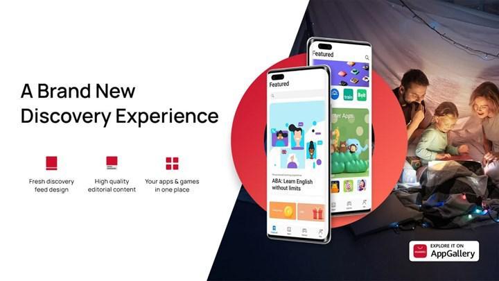 Huawei, güncellediği AppGallery arayüzüyle kullanıcıların uygulamalara erişimini kolaylaştırıyor