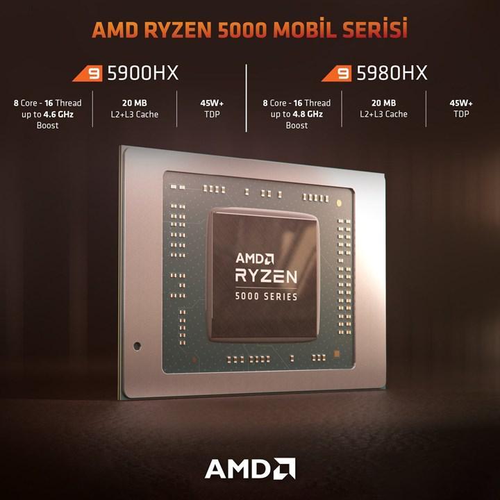 AMD Ryzen 9 5900HX mobil Passmark listesini alt üst etti