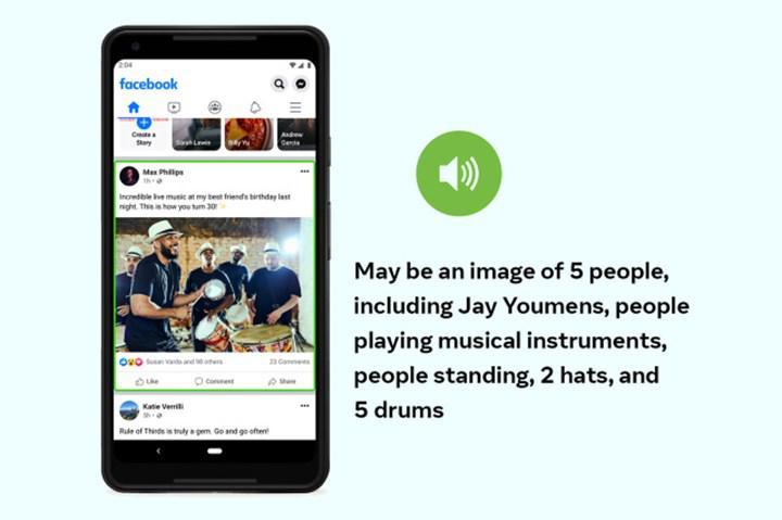 Facebook, görme engelli kullanıcılar için fotoğraf açıklamalarını iyileştiriyor
