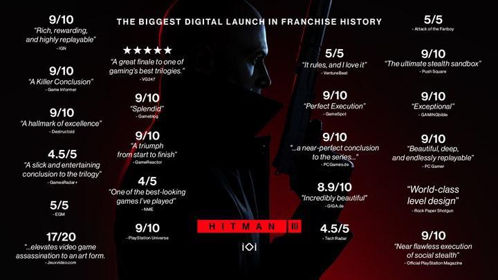 Hitman 3 serinin en iyi çıkış yapan oyunu oldu; Xbox Series ve PC'ye ışın izleme geliyor