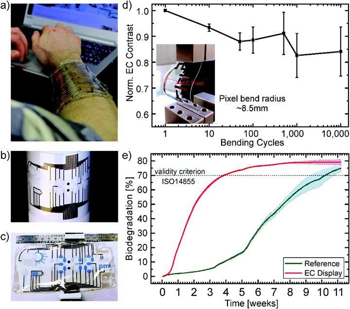 Biyolojik olarak bozunabilen elektrokromik ekran geliştirildi