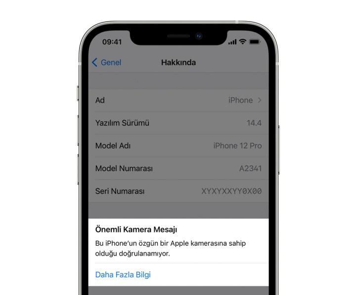iOS 14.4, iPhone kamerasının orijinal olup olmadığını tespit edebiliyor
