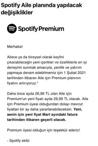 Spotify'ın Aile planı ücretine zam geldi!