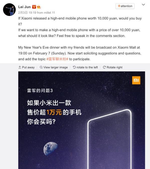 Xiaomi 1500$'lık telefonlara hazırlanıyor