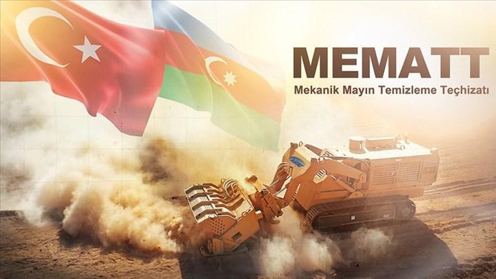 MSB, Azerbaycan'a ihraç edilen MEMATT mayın temizleme teçhizatının Bakü'ye ulaştığını açıkladı
