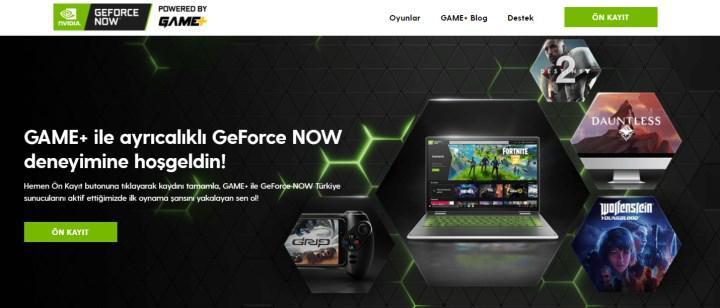GeForce Now powered by GAME+ platformuna iki sponsor