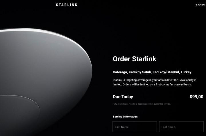 Starlink Türkiye'den ön siparişe açıldı: 2021'de kapsama alanına giriyor