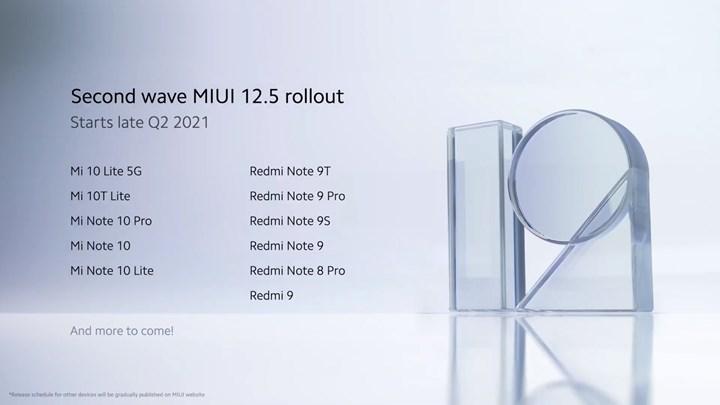 Xiaomi, MIUI 12.5 güncellemesi alacak akıllı telefonların listesini genişletti