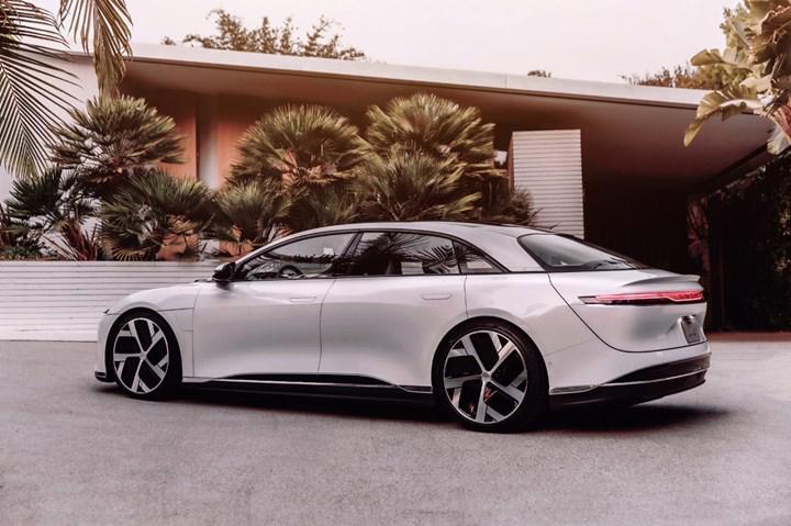 Elektrikli lüks sedan Lucid Air bu yıl Avrupa'ya gelecek