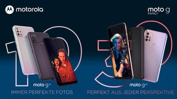 Moto G30 modeli 90Hz ekran ve 5000mAh batarya ile geliyor