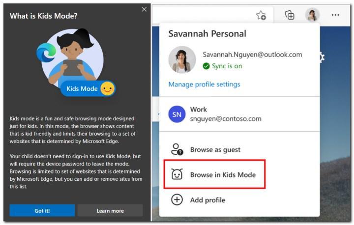Microsoft, Edge tarayıcısında bir Çocuk Modu'nu test ediyor