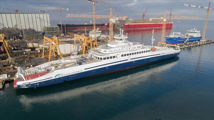 Türkiye'de üretilen elektrikli feribot Norveç sularında hizmete giriyor