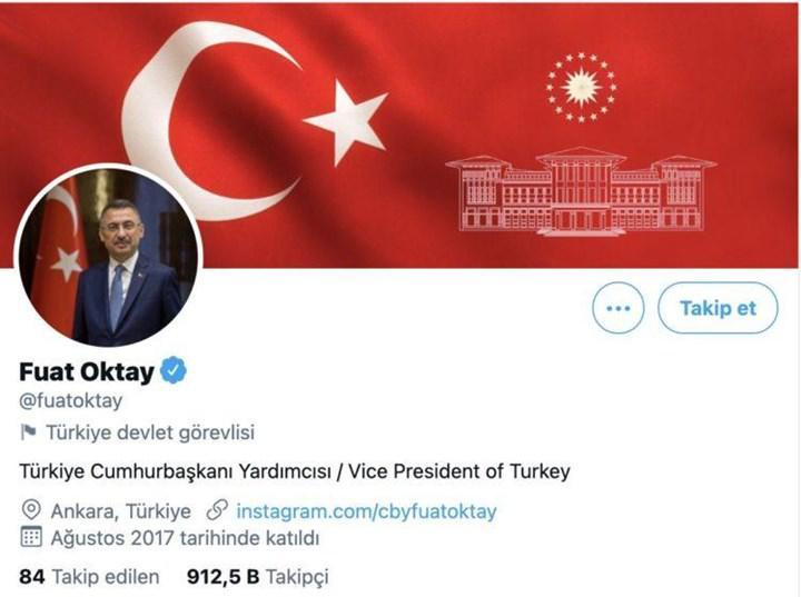 Türkiye'deki hükümet yetkililerin Twitter hesaplarına devlet görevlisi etiketi eklendi