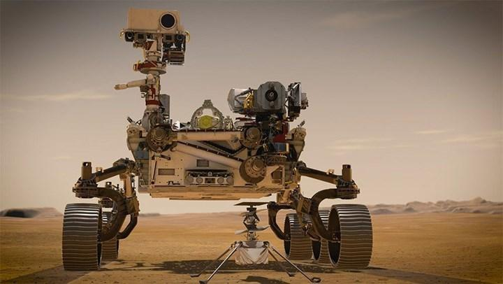 Mars'a iniş yapan Ingenuity helikopterinden ilk sinyal geldi