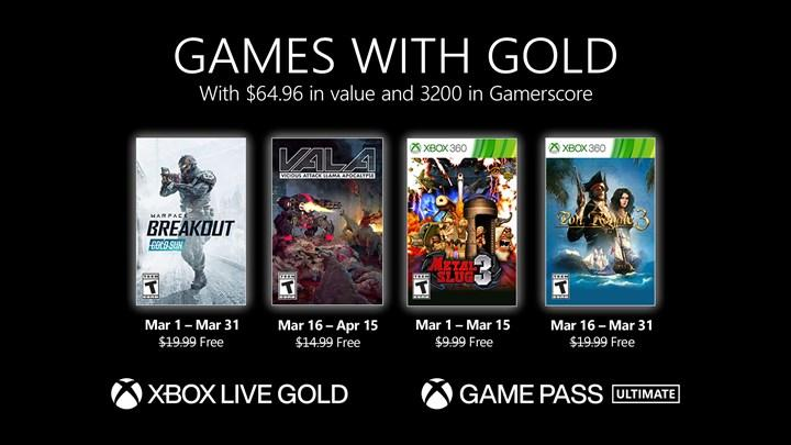 Free games for Xbox Live Gold members in March have been announced