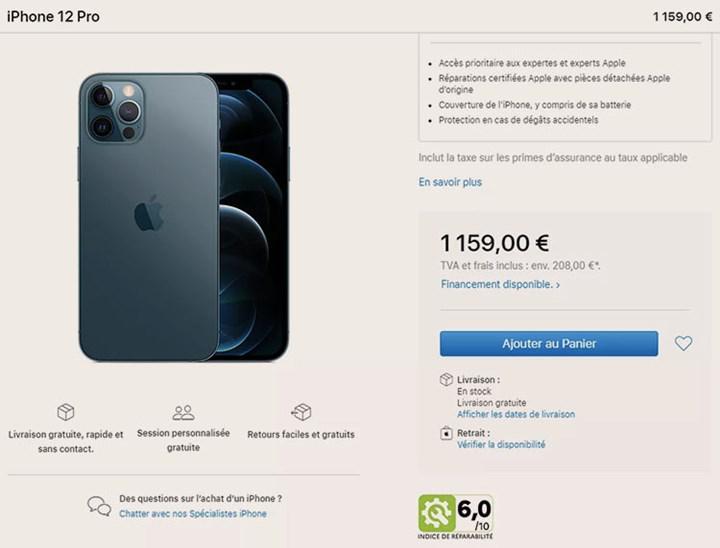Apple artık Fransa'da, iPhone ve MacBook'ların tamir edilebilirlik derecelerini belirtiyor