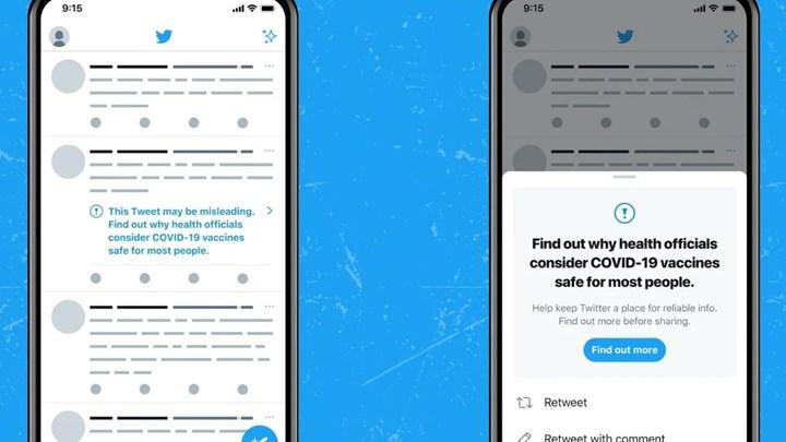 Twitter to tag tweets containing false information about COVID-19 vaccines