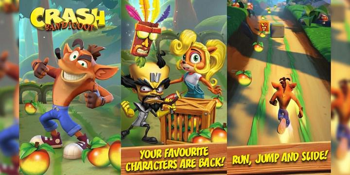 The endless running game Crash Bandicoot: On the Run comes to mobile in the spring