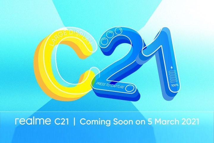 5 Mart lansmanı öncesi Realme C21'e dair teknik detaylar belli oldu