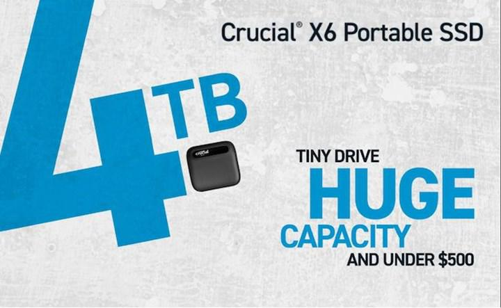Crucial X6 expands SSD family with 500 GB and 4 TB options