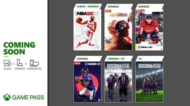 FM 2021, NBA 2K21 ve daha fazlası bu ay Xbox Game Pass'e geliyor