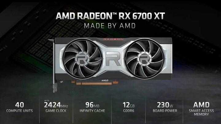 AMD, RX 6700 XT'yi duyurdu