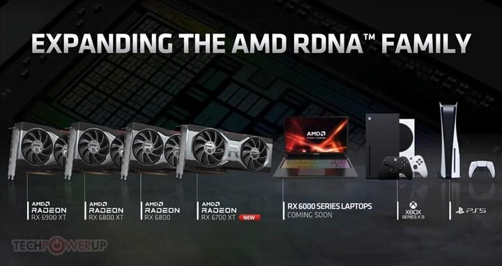 Mobil AMD RX 6000 ailesi yolda