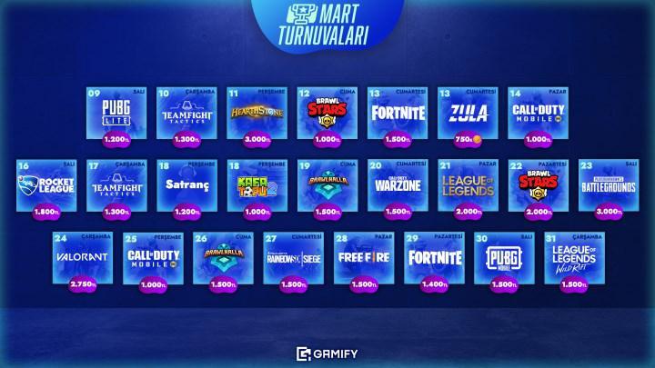 55.000 TL'lik ödül havuzu ile Gamify Mart 2021 turnuvaları devam ediyor