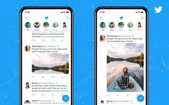 Twitter mobil uygulamada tam boy resim gösterimine başlıyor
