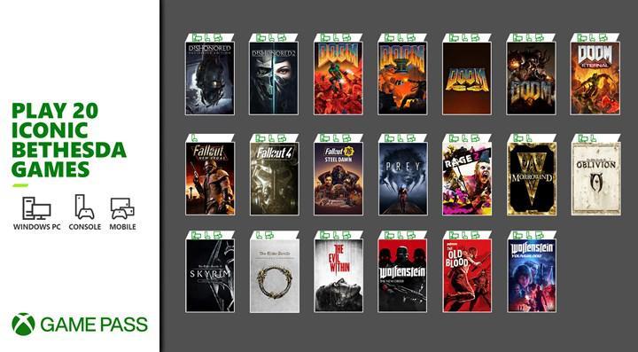20 farklı Bethesda oyunu 12 Mart'ta Xbox Game Pass'te erişilebilir olacak