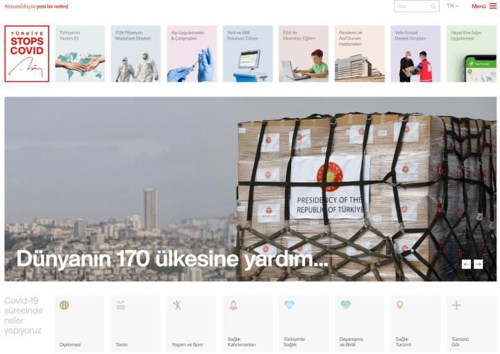 Türkiye'nin Covid-19 ile mücadelesi turkiyestopscovid.com adresinde toplandı