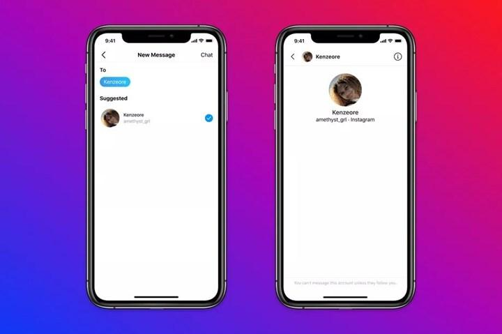 Instagram forbids adults from texting teens who don't follow them
