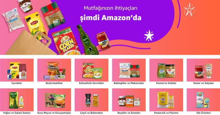Food products have been added to Amazon.com.tr