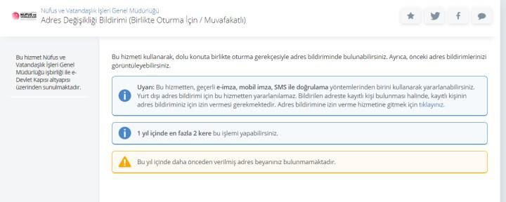 Adres değişikliği için e-Devlet'e yeni özellik eklendi