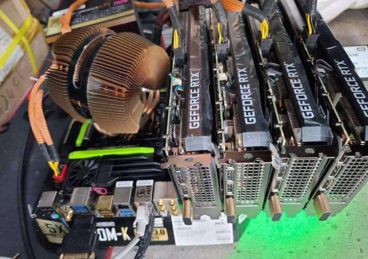 RTX 3060's miner is overcome as it is overcome: HDMI dongle digs 4 cards at full power