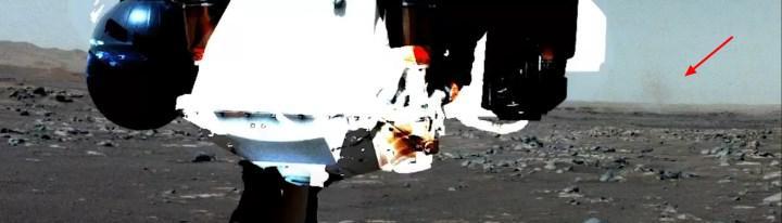 Perseverance gezgini Mars'ta 'toz şeytanı' görüntüledi