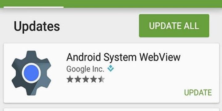 Android uygulamaları Google WebView nedeniyle çöküyor