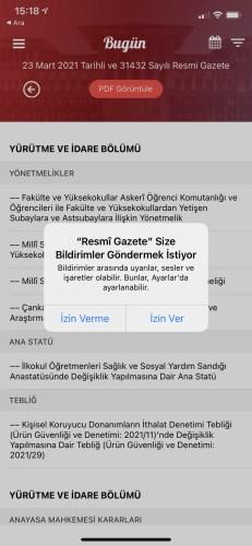 Instant notification feature has been added to the Official Gazette
