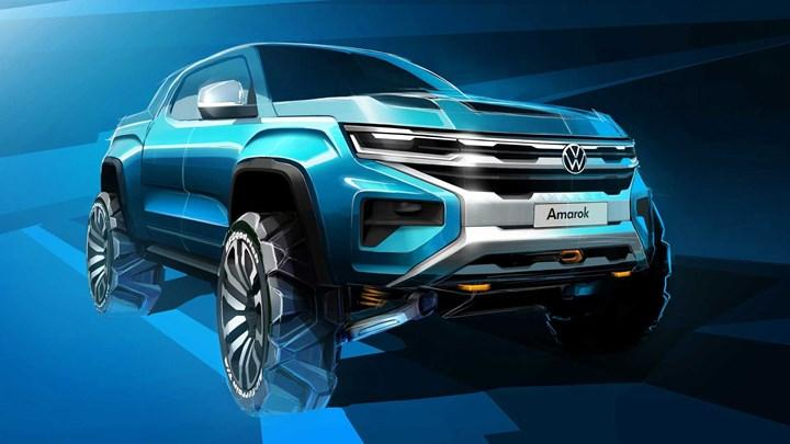 The design of the new generation Volkswagen Amarok is gradually revealed: Here's the new teaser