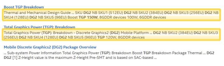 16 GB VRAMli Intel DG2 4096 işlem birimine kadar ölçeklenebilir