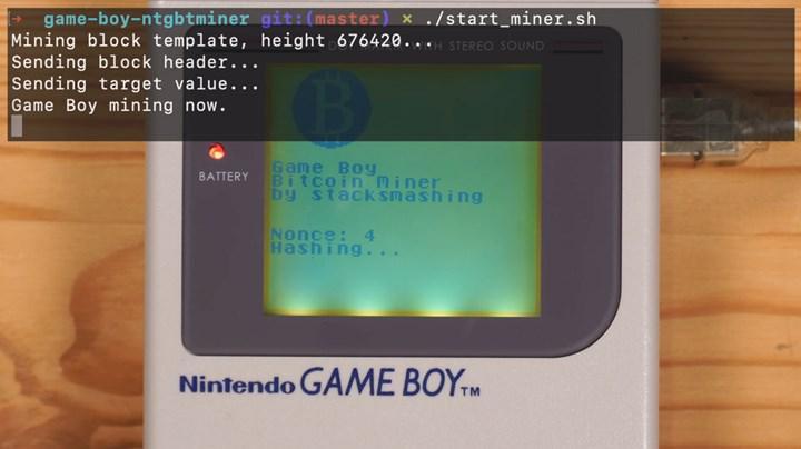 Game Boy ile Bitcoin madenciliği denemesi