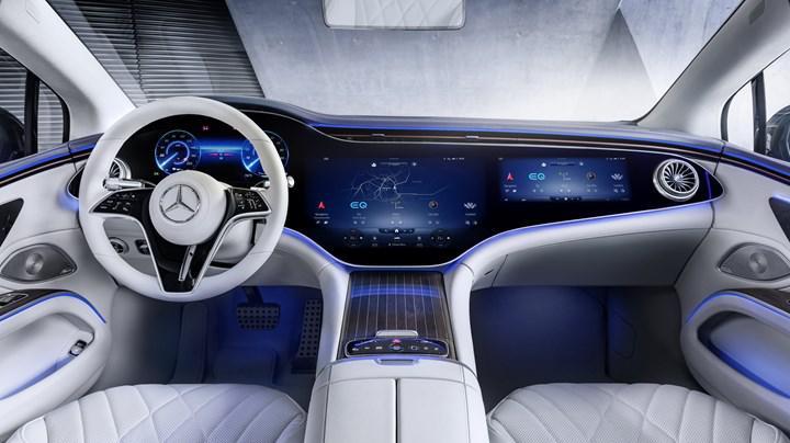 Elektrikli Mercedes EQS'in iç mekanı ortaya çıktı