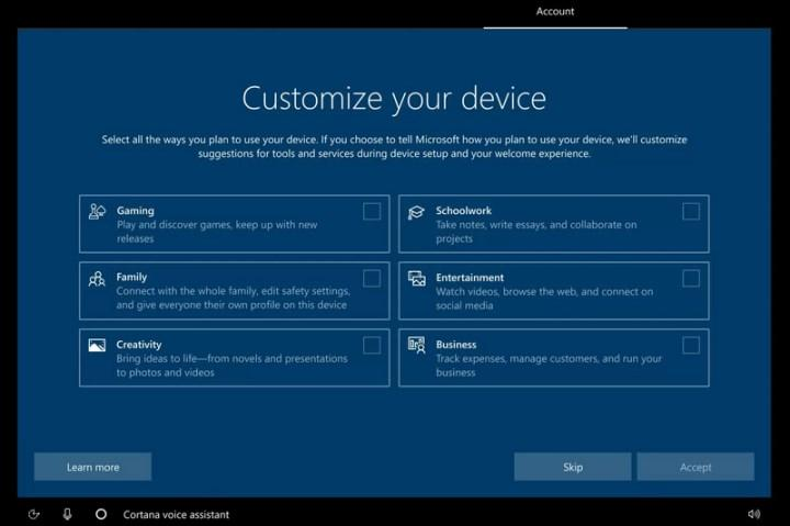 Windows 10 will now adapt to the user