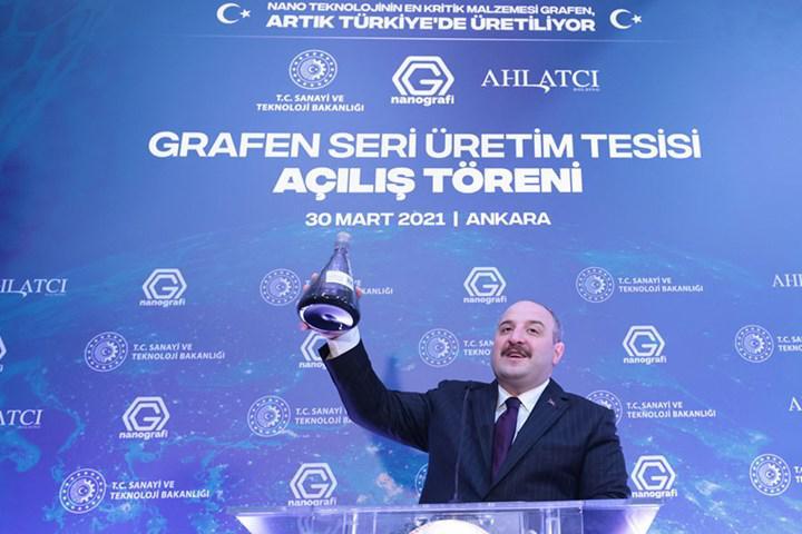 Türkiye'nin ilk Grafen Seri Üretim Tesisi açıldı: Geleceğin materyali olarak gösteriliyor