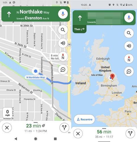 Pusula işlevi, Google Haritalar'ın Android sürümüne geri döndü