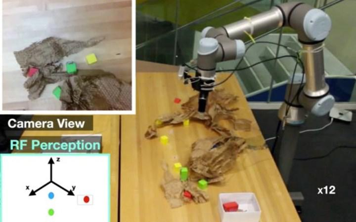 Developed a robot that can find hidden objects using radio waves