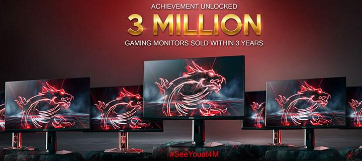MSI has sold 3 million gaming monitors to date