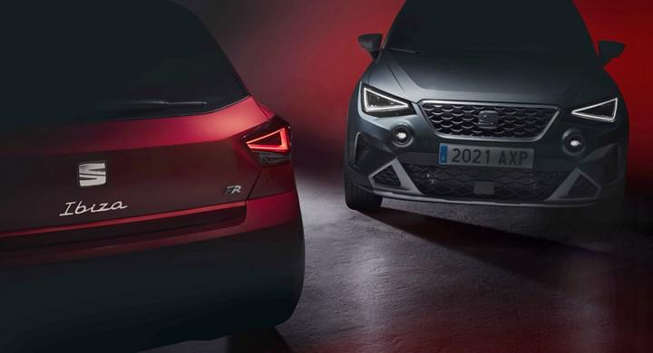 First teaser from facelifted Seat Ibiza and Arona