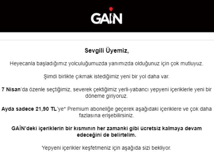 Digital digital content platform Gain launches paid Premium option