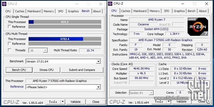 Ryzen 7 5700G görüntülendi ve test edildi